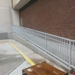 Galvanized steel ADA rail