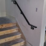 Residential Wall RailCustom residential handrail, powder coated steel