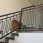 Custom residential handrail, powder coated steel